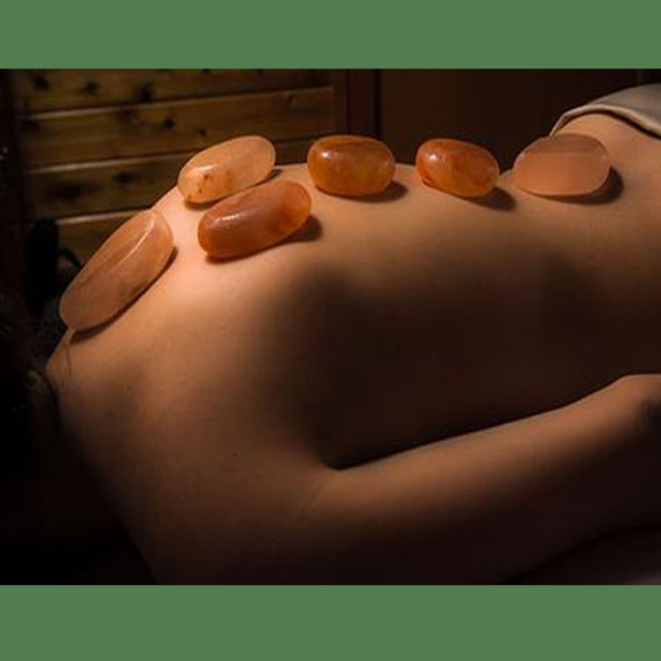 Himalayan Salt Massage Stone Warmer with 5 Oval stones