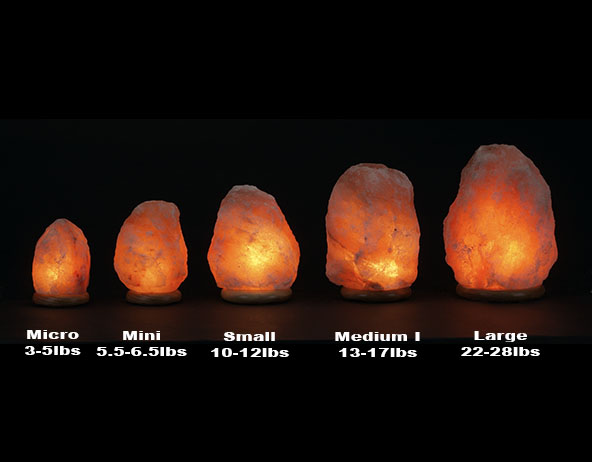SIZE CHART OF HIMALAYAN SALT LAMPS AND GUIDES TO CHOOSE THE RIGHT ONE