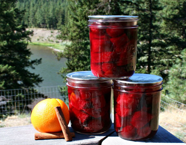 Basic Himalayan Salt Pickling Brine and Orange-Spriced Beets