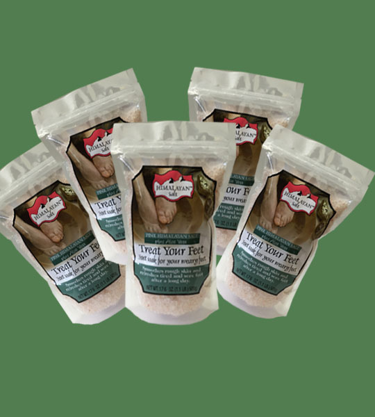 Himalayan Salt Treat your feet plus Aloe Vera 500g 5 bags