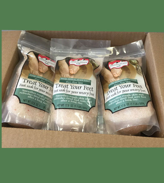 Himalayan Salt Treat your feet plus Aloe Vera 500g 24 bags