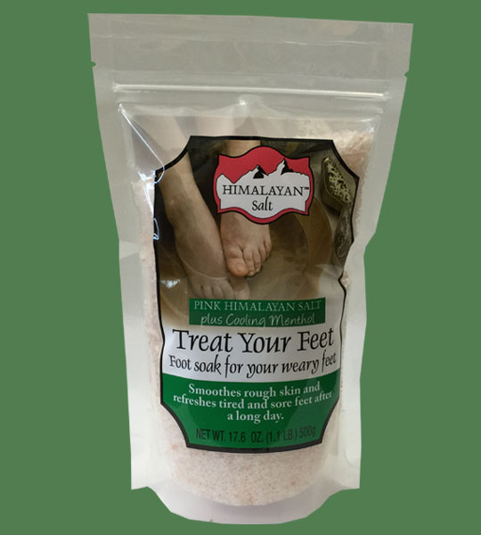 Himalayan Salt Treat your feet plus cooling Menthol 500g