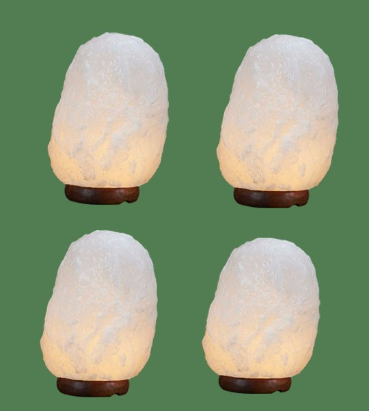 Himalayan Salt Lamp Natural White Medium I 4 units (13-17 lbs each)