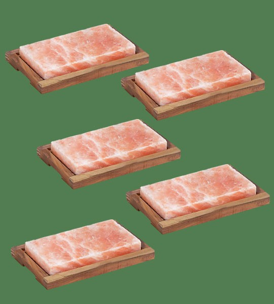 Himalayan Salt Plank Medium with holder 5 units