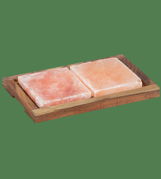 Himalayan Salt  Planks 2 small with 1 holder