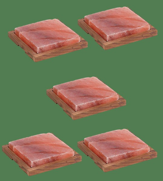 Himalayan Salt Plank Large with holder 5 units