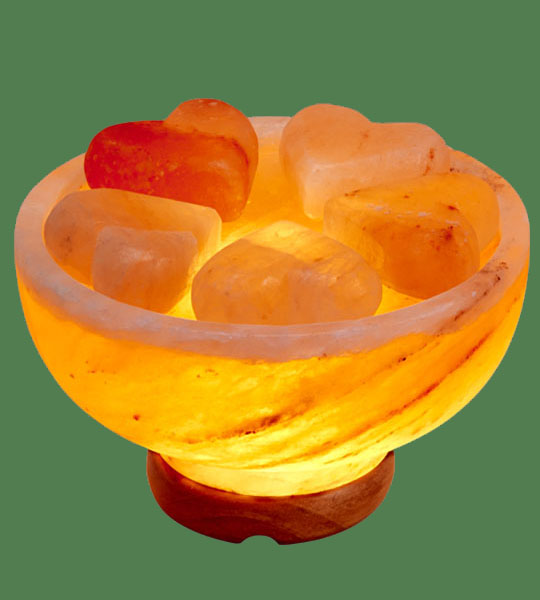 Himalayan Salt Massage Stone Warmer with 5 Heart stones