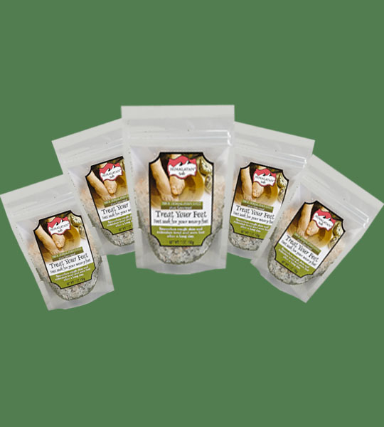 Himalayan Salt Treat your feet plus seaweed 200g 5 bags