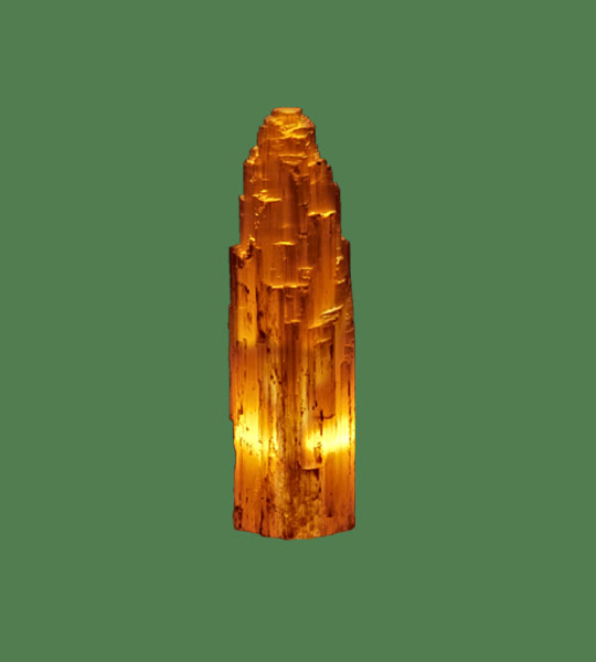 Properties Of Salt Lamps : Selenite Lamp Medium Blue