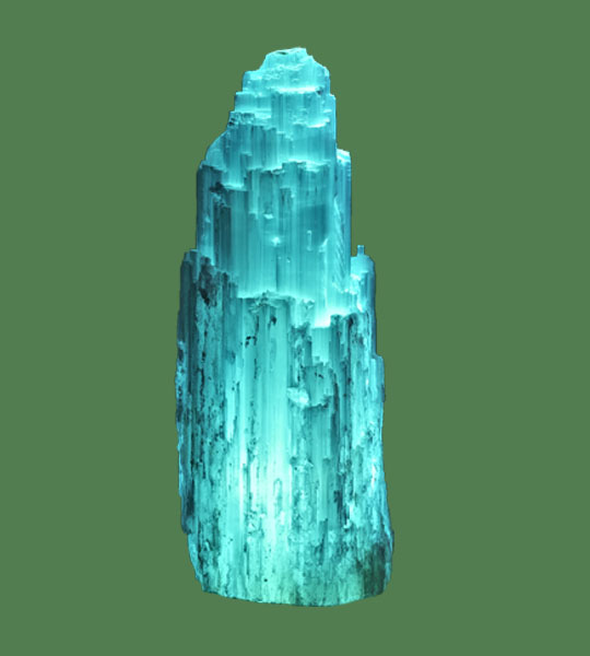Salt Lamps Blue : Selenite Lamp Medium Blue