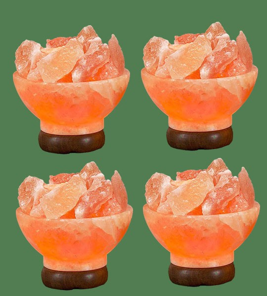 Himalayan Salt Lamp Shaped Pink Round Fire Bowl 4 units