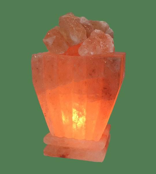 Himalayan Salt Lamp Shaped Pink Pumpkin