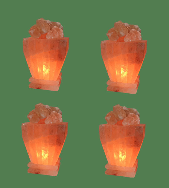 Himalayan Salt Lamp Pink Fire Bowl Square 4 units