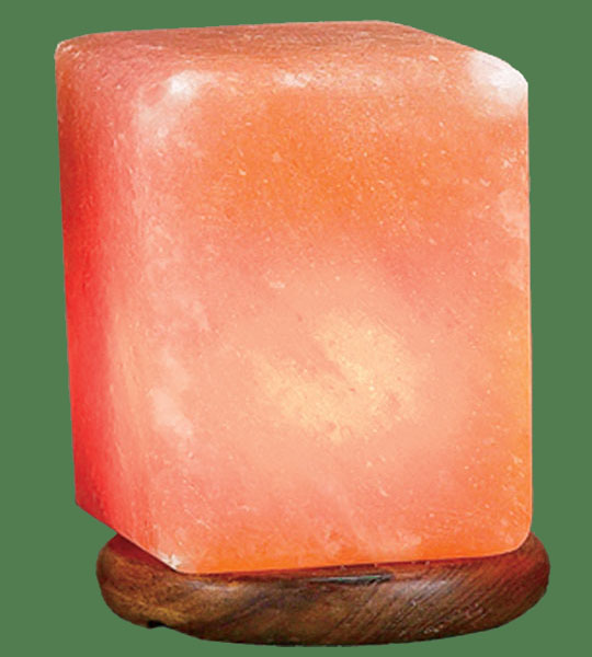Himalayan Salt Lamp Shaped Pink Rectangle
