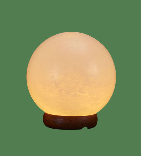 Himalayan Salt Lamp Shaped White Sphere