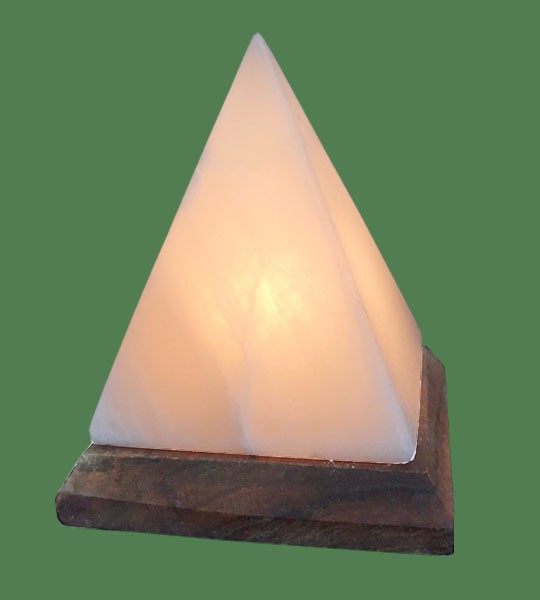 Himalayan Salt Lamp Shaped White Pyramid