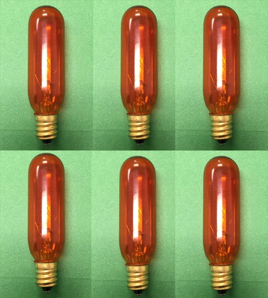 Himalayan Salt Bulb 15W Orange 6 Units