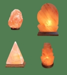 Himalayan Salt Lamps 1 Micro + 1 Heart + 1 Pyramid + 1 Flower