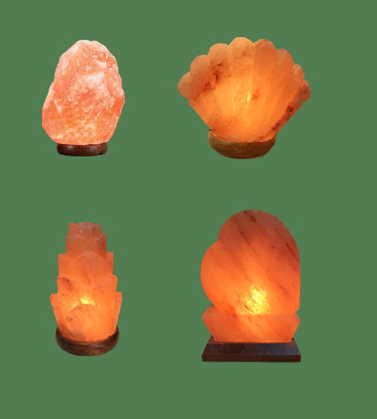 Himalayan Salt Lamps 1 Micro + 1 Sea Shell + 1 Flower + 1 Heart