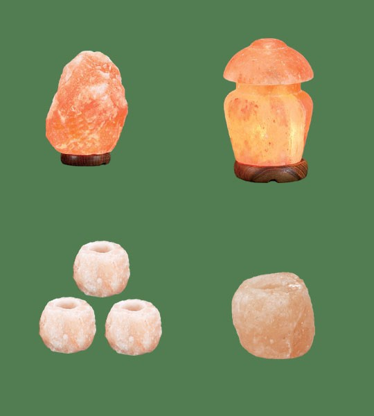 Himalayan Salt Lamps 1 Micro + 1 Mushroom + 3 Votive Candle Holder Mini + 1 Votive Candle Holder Large