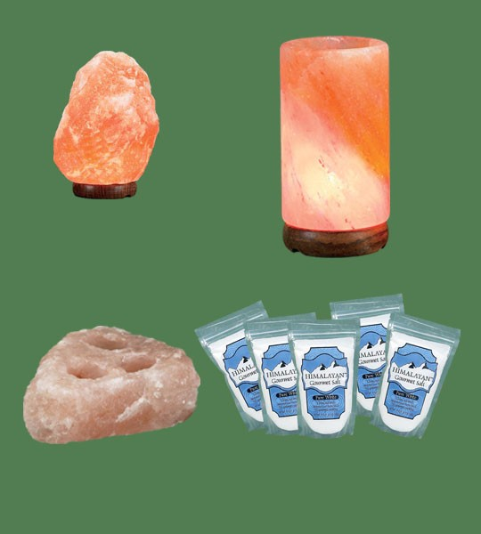 Himalayan Salt Lamps 1 Micro + 1 Cylinder Diffuser + 1 Votive Candle Holder 3 hole plate + 5 White Fine Gourmet salt 500g
