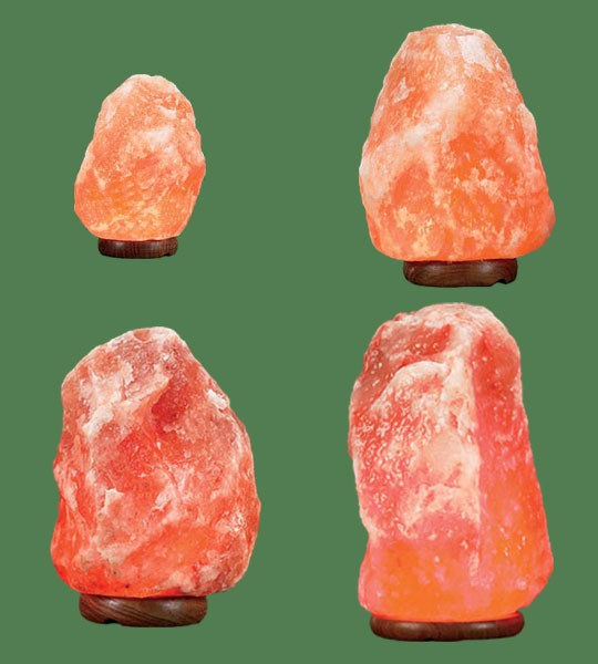 Himalayan Salt Lamps 1 Micro + 1 Mini + 1 Small + 1 Medium I