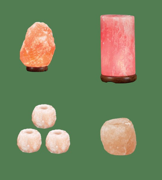 Himalayan Salt Lamps 1 Micro + 1 Cylinder + 3 Votive Candle Holder Mini + 1 Votive Candle Holder Large