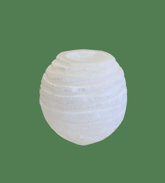 Selenite Candle holder Snow Ball