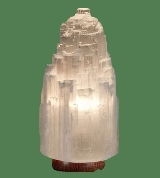 Selenite Lamp Xlarge White 15""