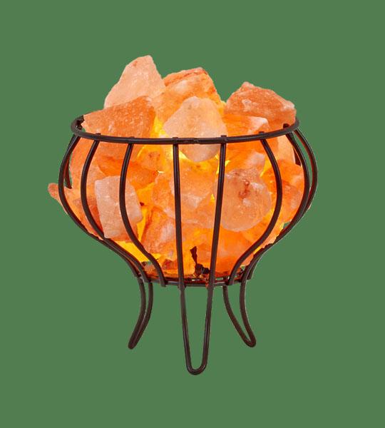 Himalayan Salt Lamp Basket Iron small