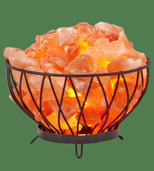 Himalayan Salt Lamp Basket Iron Medium