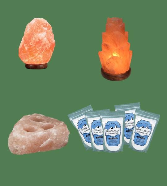 Himalayan Salt Lamps 1 Micro 1 Flower 1 Votive Candle